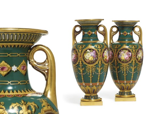 A PAIR OF SEVRES (LOUIS PHILIP