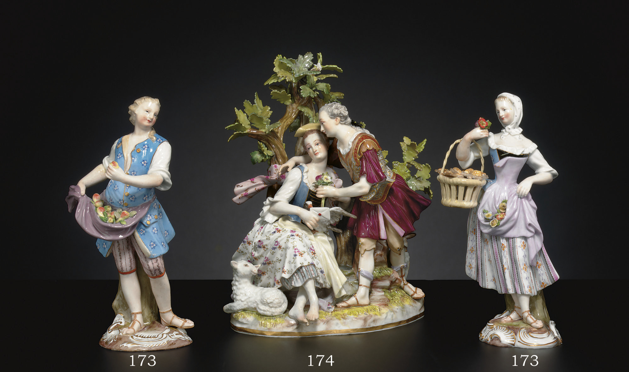 TWO MEISSEN FIGURES OF STREET