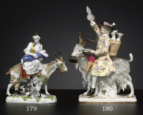 A MEISSEN GROUP OF THE TAILOR'