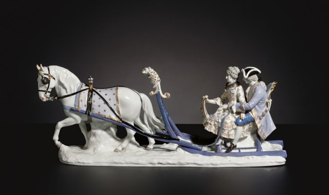 A MEISSEN SLEIGH GROUP