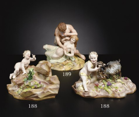 TWO PARTS OF A LARGER MEISSEN