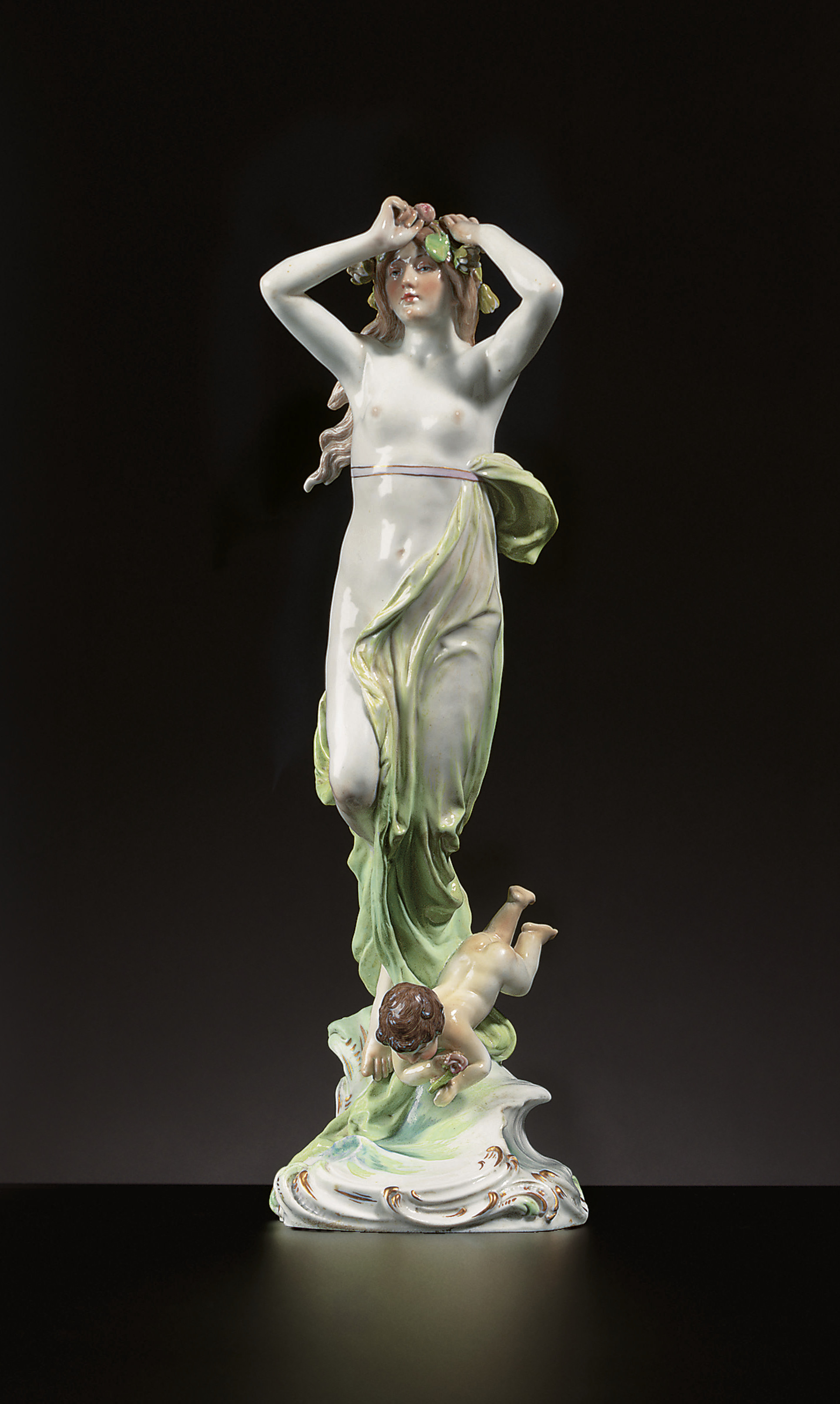 A MEISSEN FIGURE GROUP OF A NY