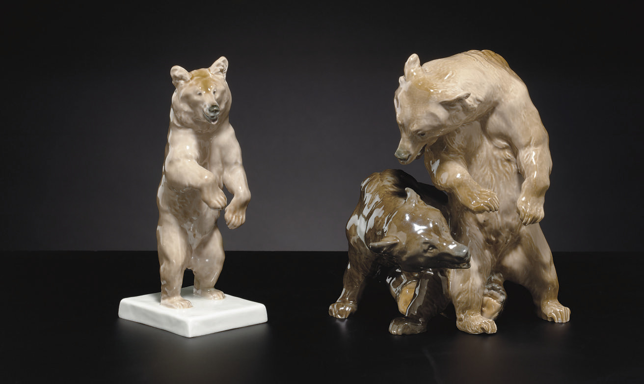 A MEISSEN FIGURE GROUP OF TWO