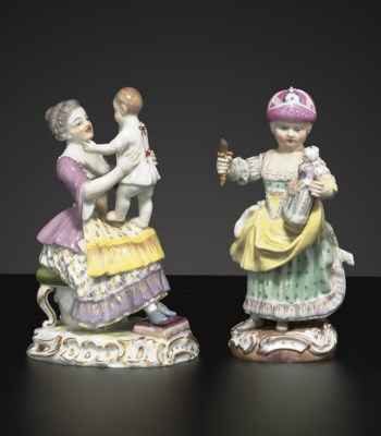 A MEISSEN MOTHER AND CHILD GRO