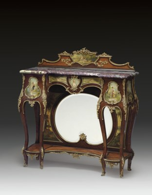 A FRENCH ORMOLU-MOUNTED ROSEWO