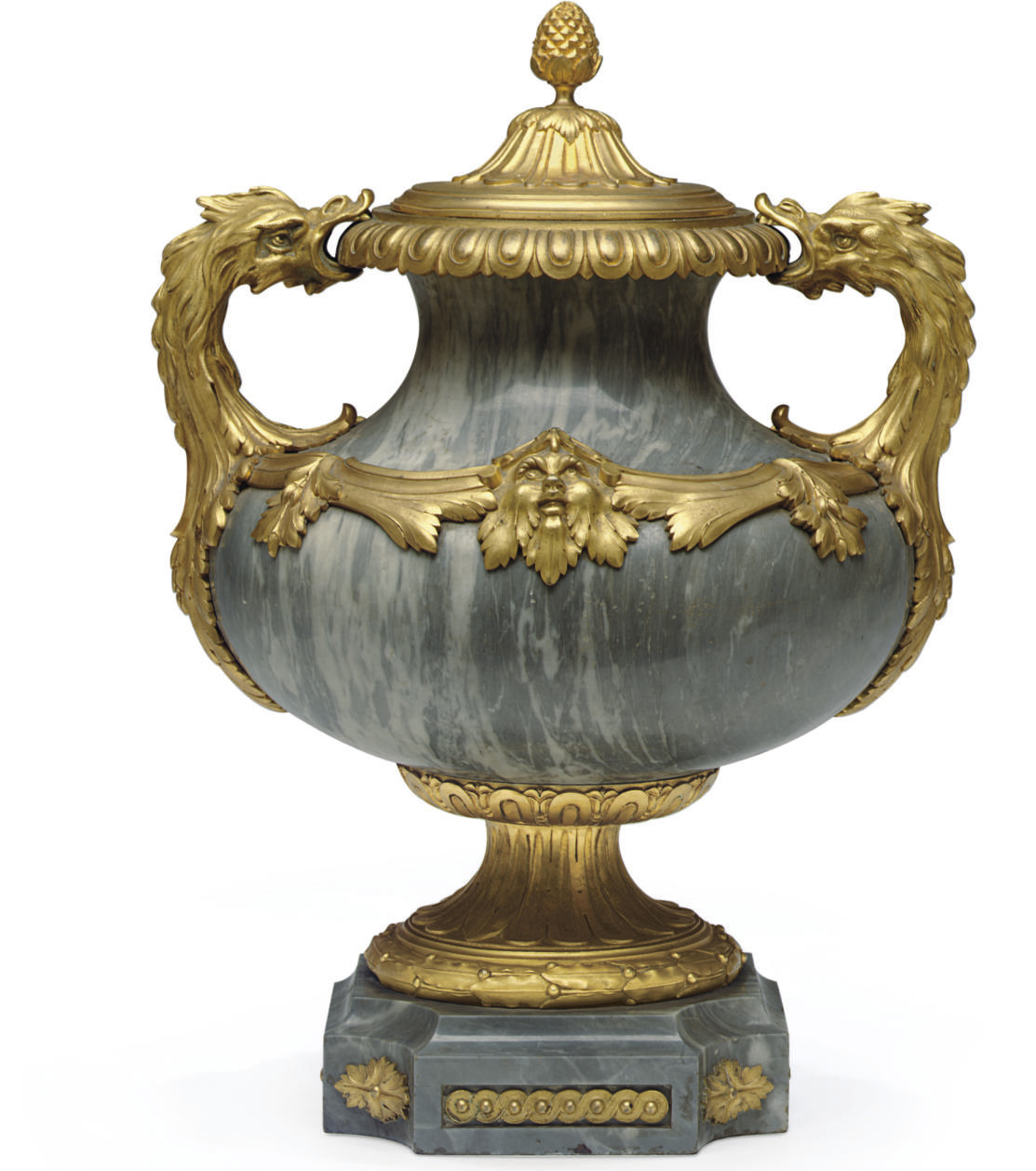 A FRENCH ORMOLU AND BLEU TURQU
