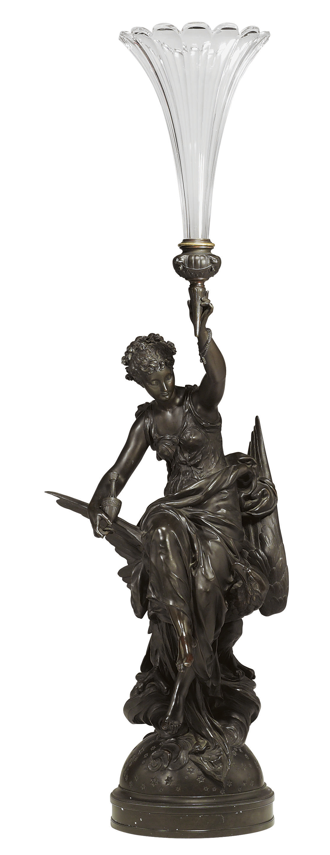 A FRENCH BRONZE FIGURE OF HEBE
