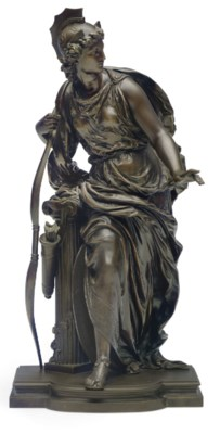 A FRENCH BRONZE FIGURE OF ARTE