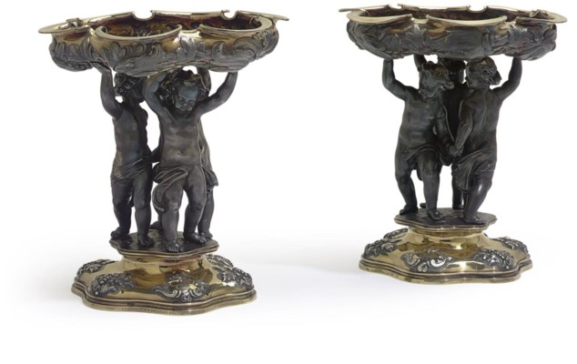 A pair of Victorian silver, si