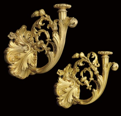 A PAIR OF FRENCH ORMOLU WALL A