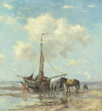 Shellfishers at low Tide