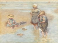 Children Playing Boats