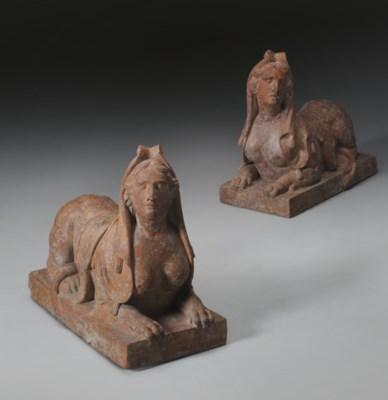 A PAIR OF LOUIS XVI TERRACOTTA