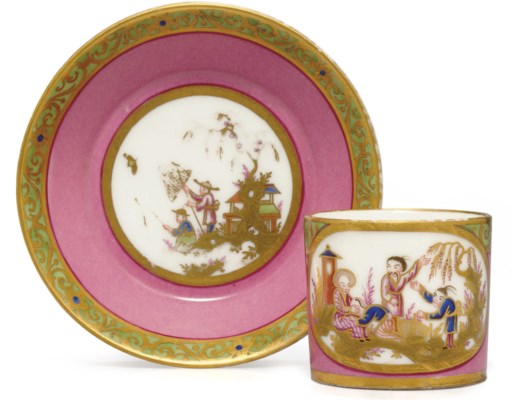 A SEVRES (HARD PASTE) PINK-GRO