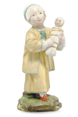 A HÖCHST FIGURE OF A CHILD AND