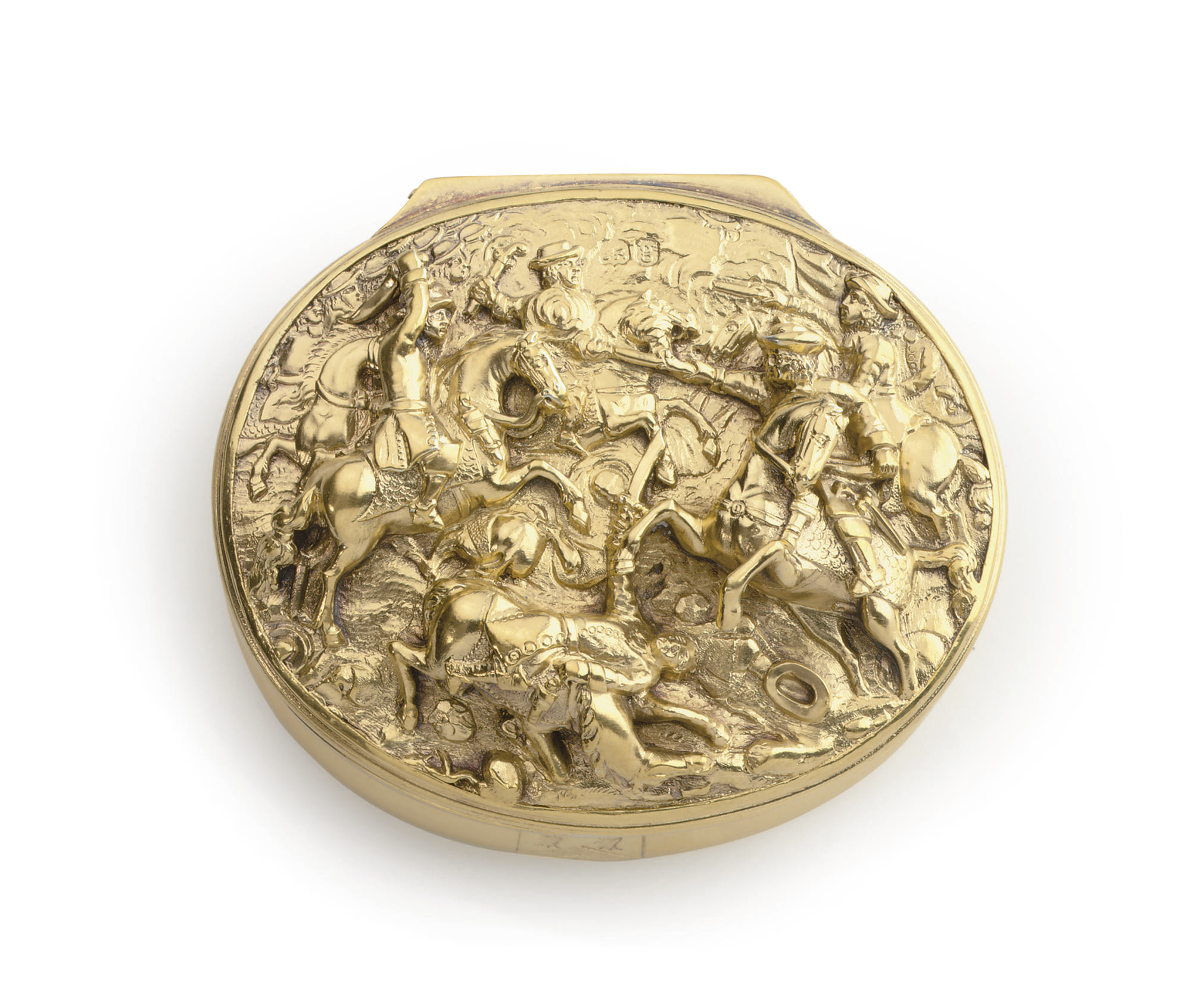 A GEORGE IV SILVER-GILT SNUFF BOX