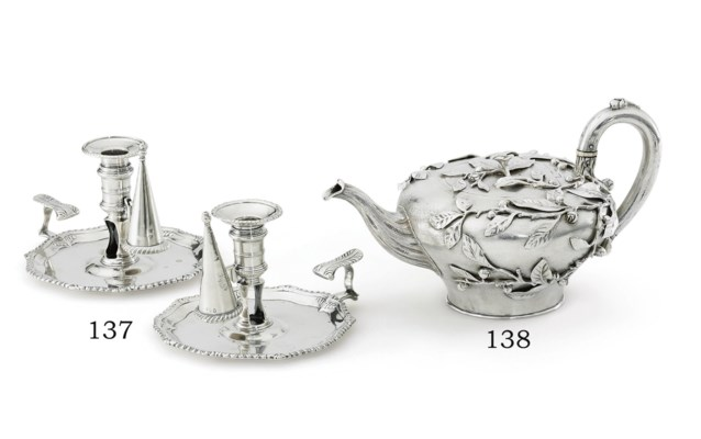 A PAIR OF GEORGE III SILVER CH