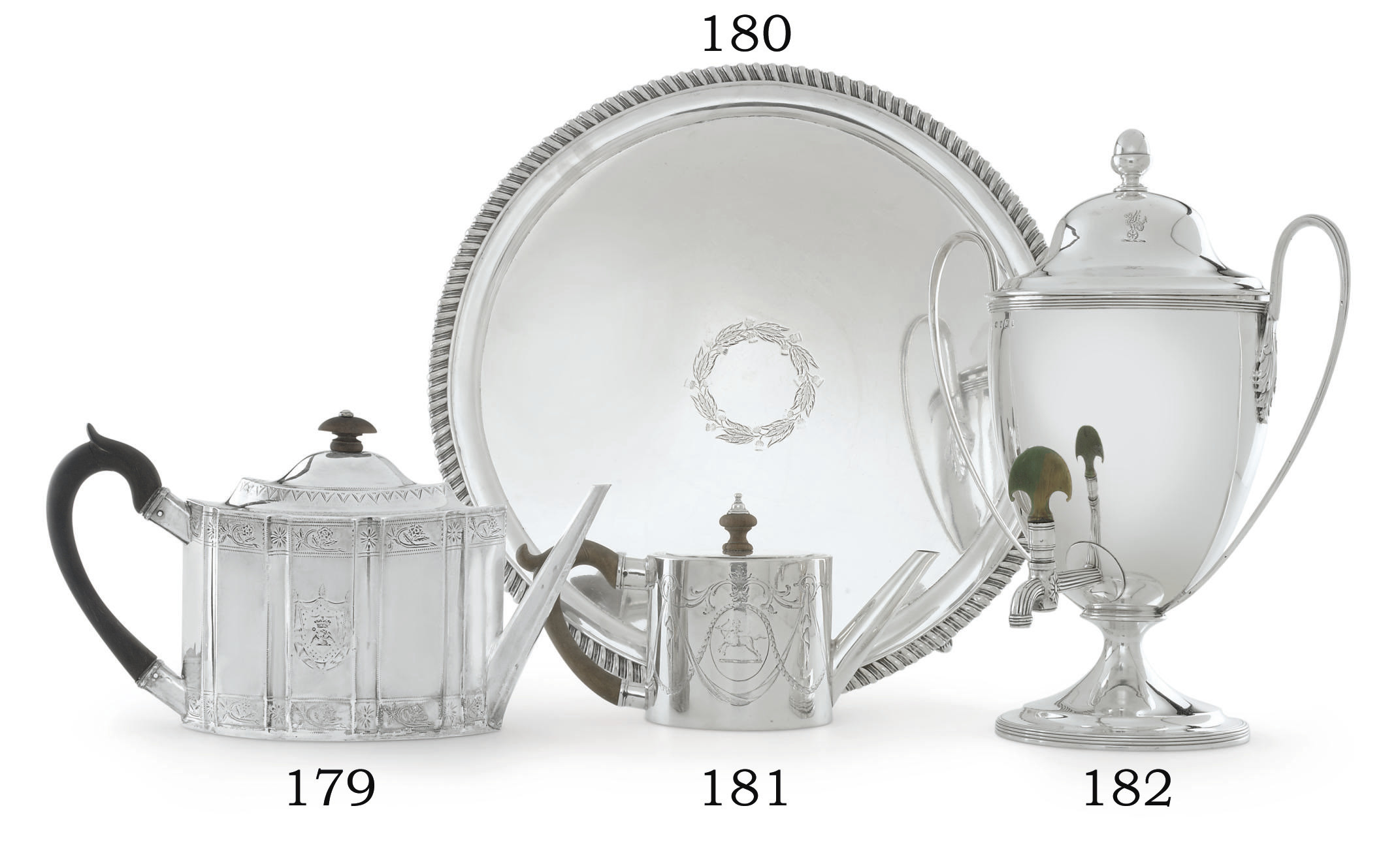 A GEORGE III IRISH SILVER TEAPOT