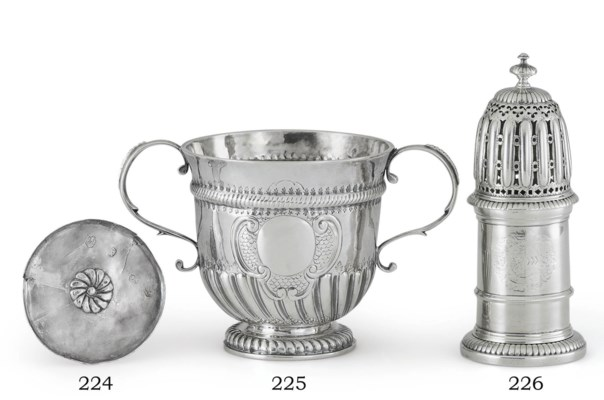 A JAMES II TOY SILVER TAZZA