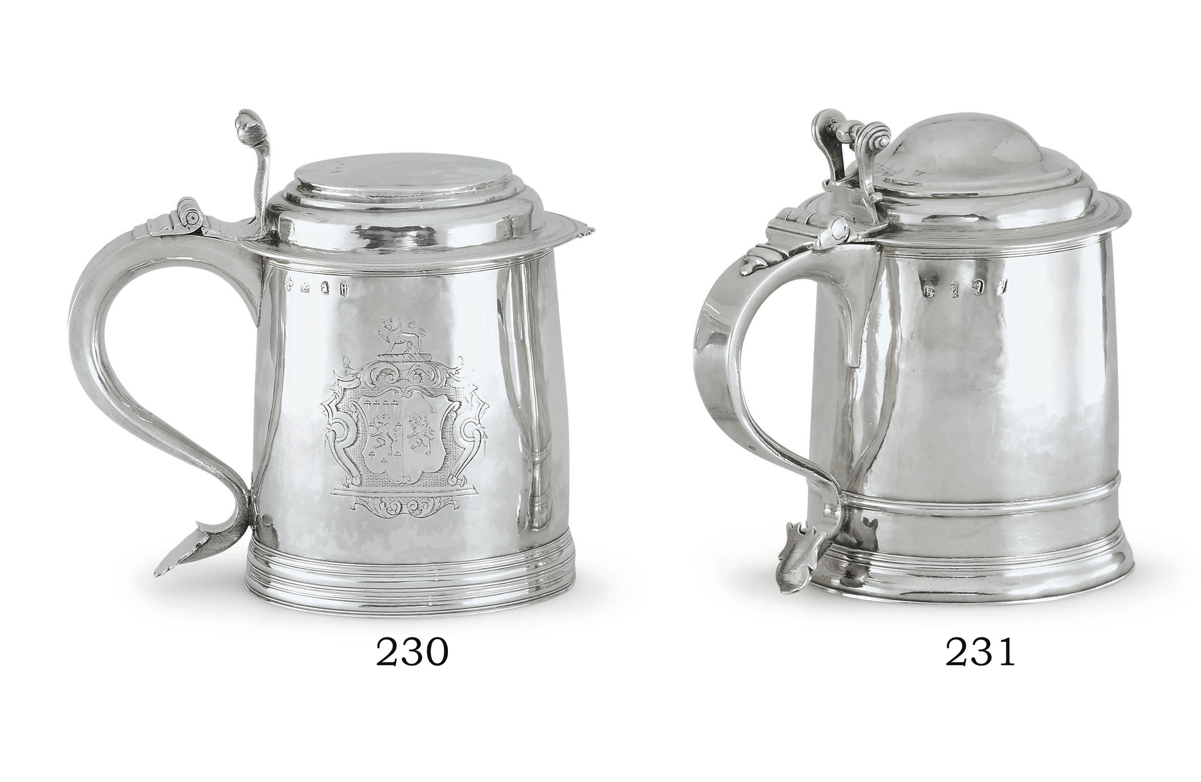 A WILLIAM III SILVER TANKARD
