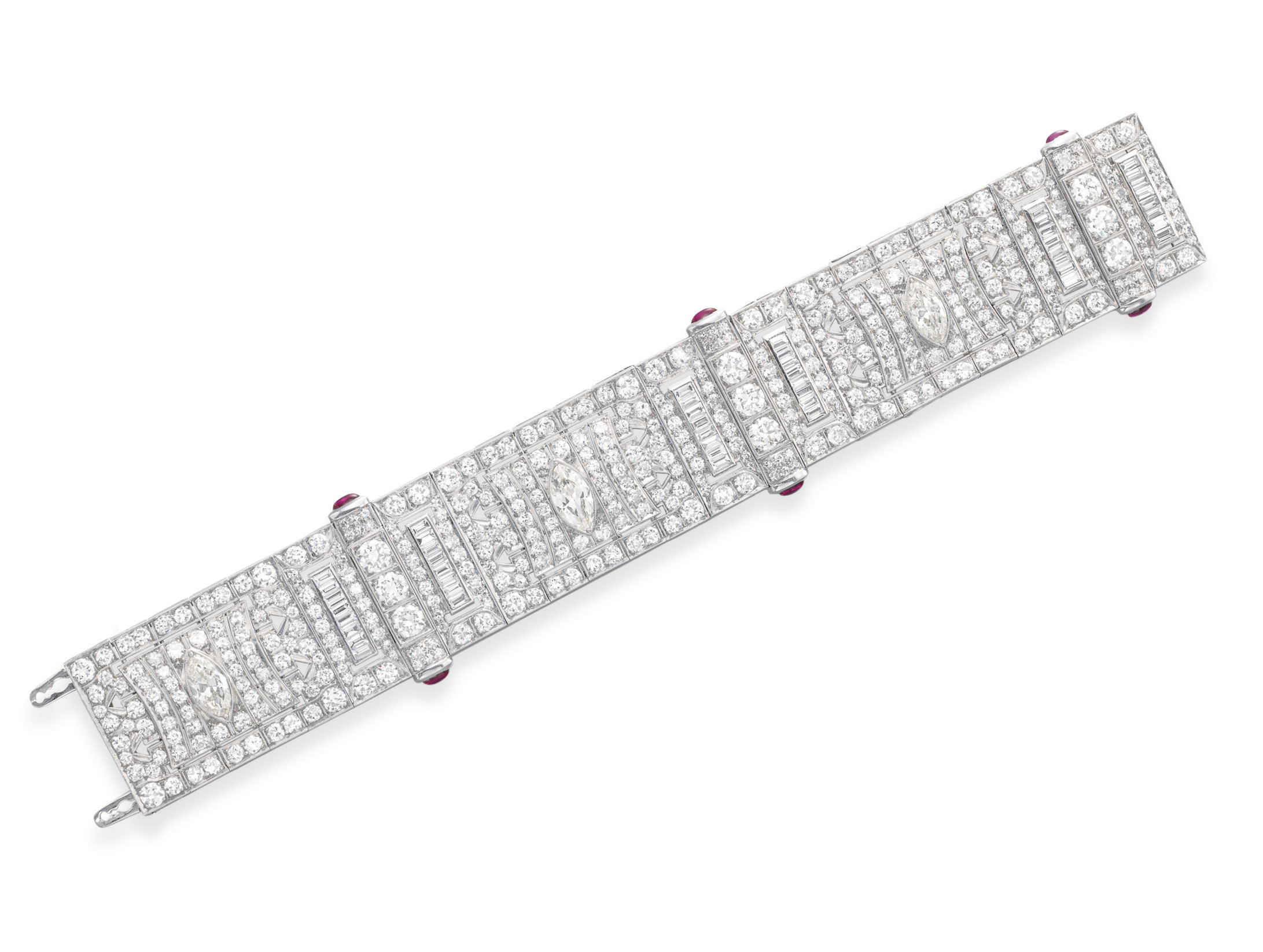 A DIAMOND AND RUBY BRACELET
