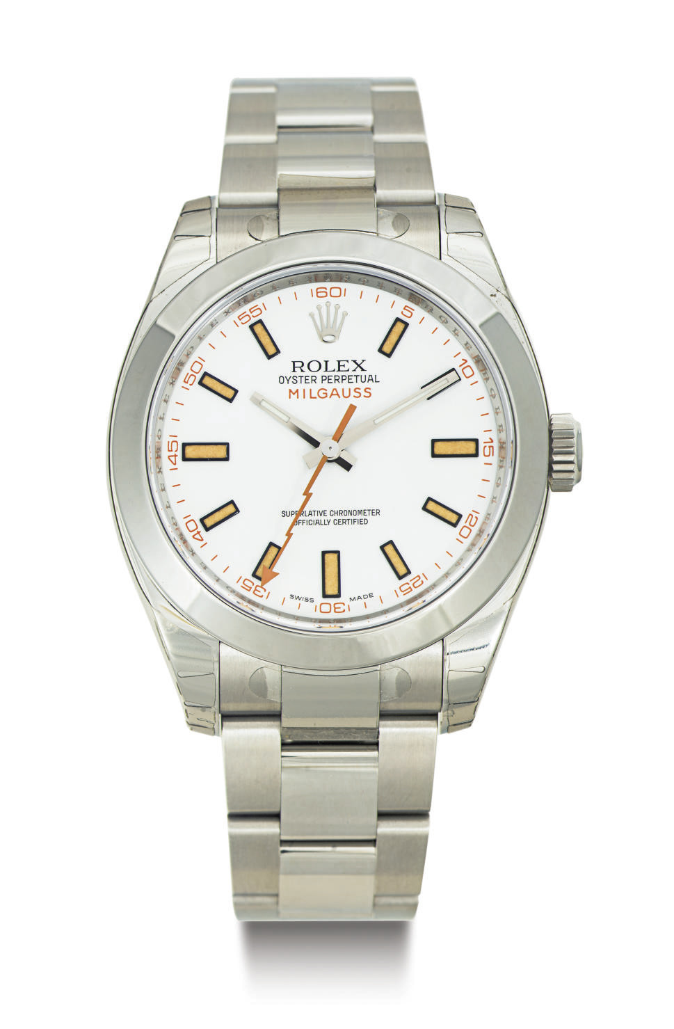 ROLEX.  A STAINLESS STEEL AUTO