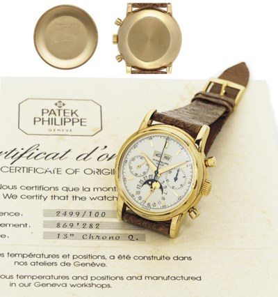 PATEK PHILIPPE.  A FINE AND RA