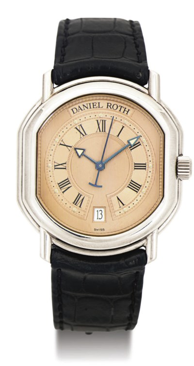 DANIEL ROTH. AN 18K WHITE GOLD