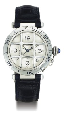 CARTIER.  A STAINLESS STEEL AU