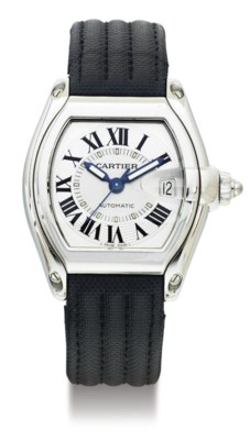 CARTIER. A LARGE STAINLESS STE