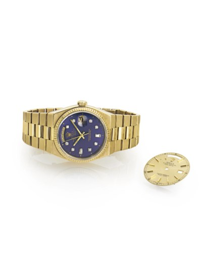 ROLEX.  AN 18K GOLD AND DIAMON