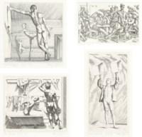 Twelve Etchings, The Print Cabinet, Connecticut, 1979, (J. & M. 77-91)
