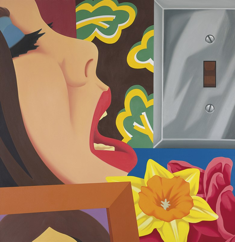 Tom Wesselmann (1931-2004), Bedroom Painting #37, painted in 1977. Oil on canvas. 70 x 68  in (177.8 x 172.7  cm). Sold for $3,218,500 on 12 November 2008 at Christie's in New York. Artwork © Estate of Tom WesselmannVAGA at ARS, NY and DACS, London 2020