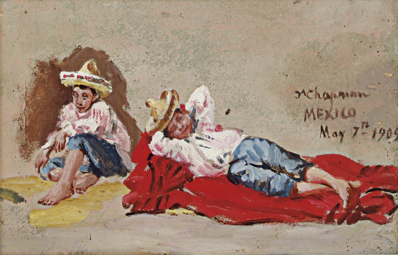Untitled (Dos niños campesinos)