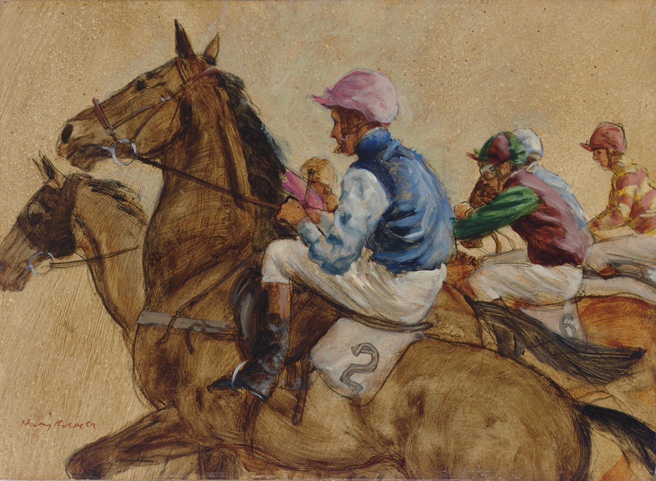 A National Hunt start: Racing in the colors of Sir John King, Lady Willoughby de Broke, Lord Cadogan and Lord Rosebury