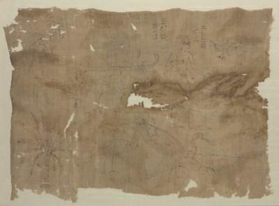 AN EGYPTIAN LINEN MUMMY SHROUD