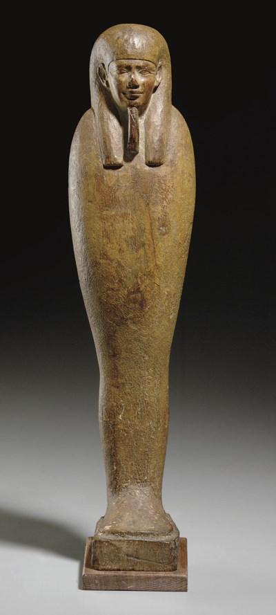 AN EGYPTIAN WOOD PTAH-SOKER-OS