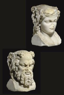 A ROMAN MARBLE JANIFORM HERM
