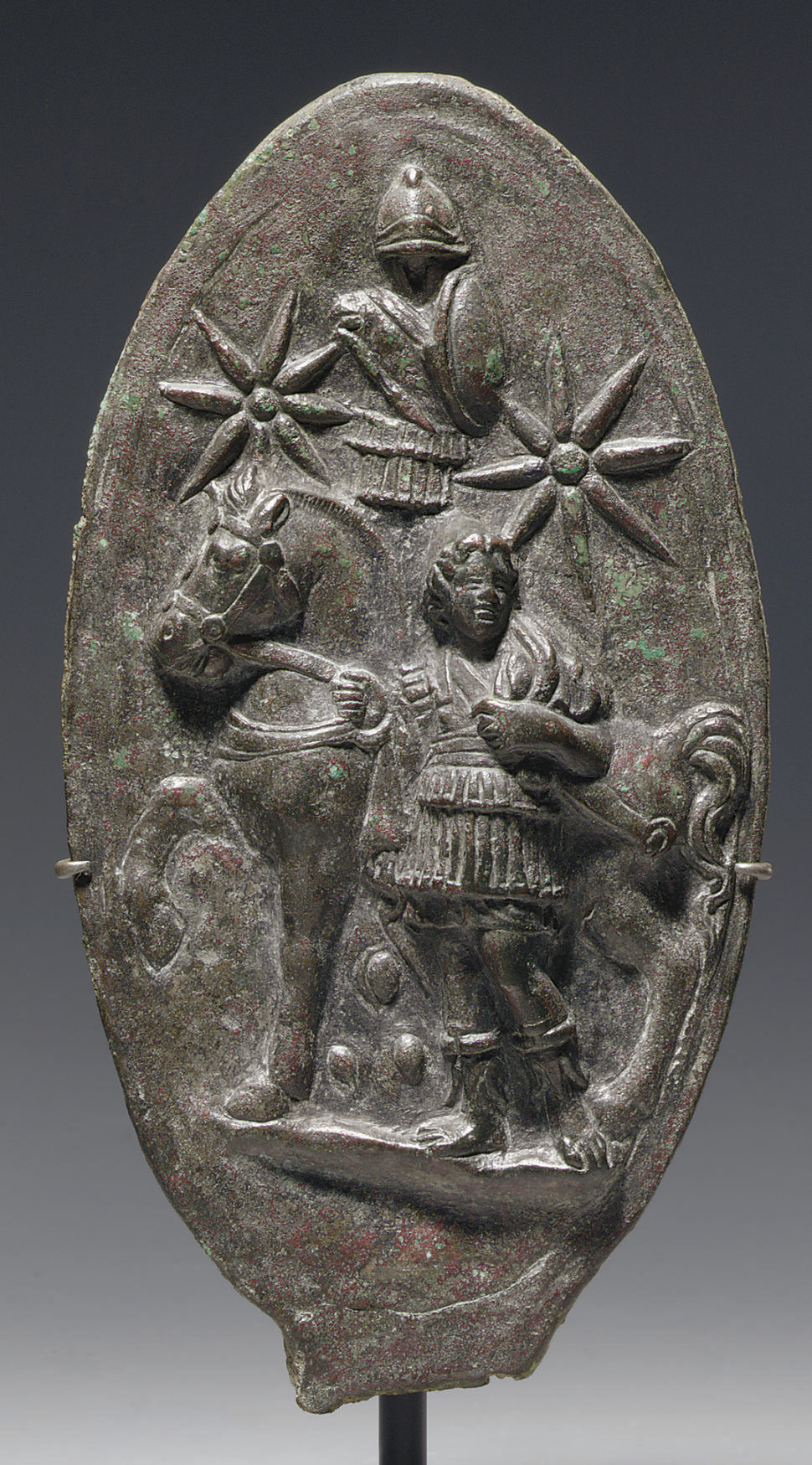 A ROMAN BRONZE PLAQUE