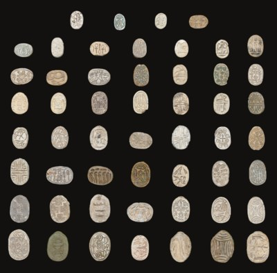 A GROUP OF FIFTY-THREE EGYPTIA
