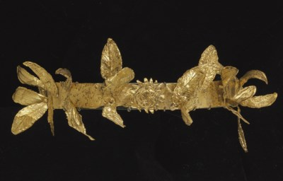 A GREEK GOLD DIADEM
