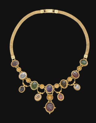 A NECKLACE OF TWELVE ROMAN RIN