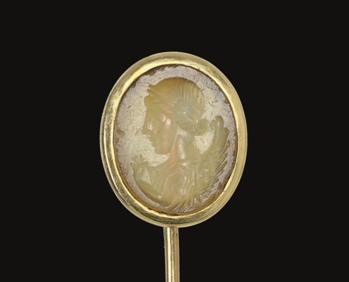 A ROMAN YELLOW CHALCEDONY RING