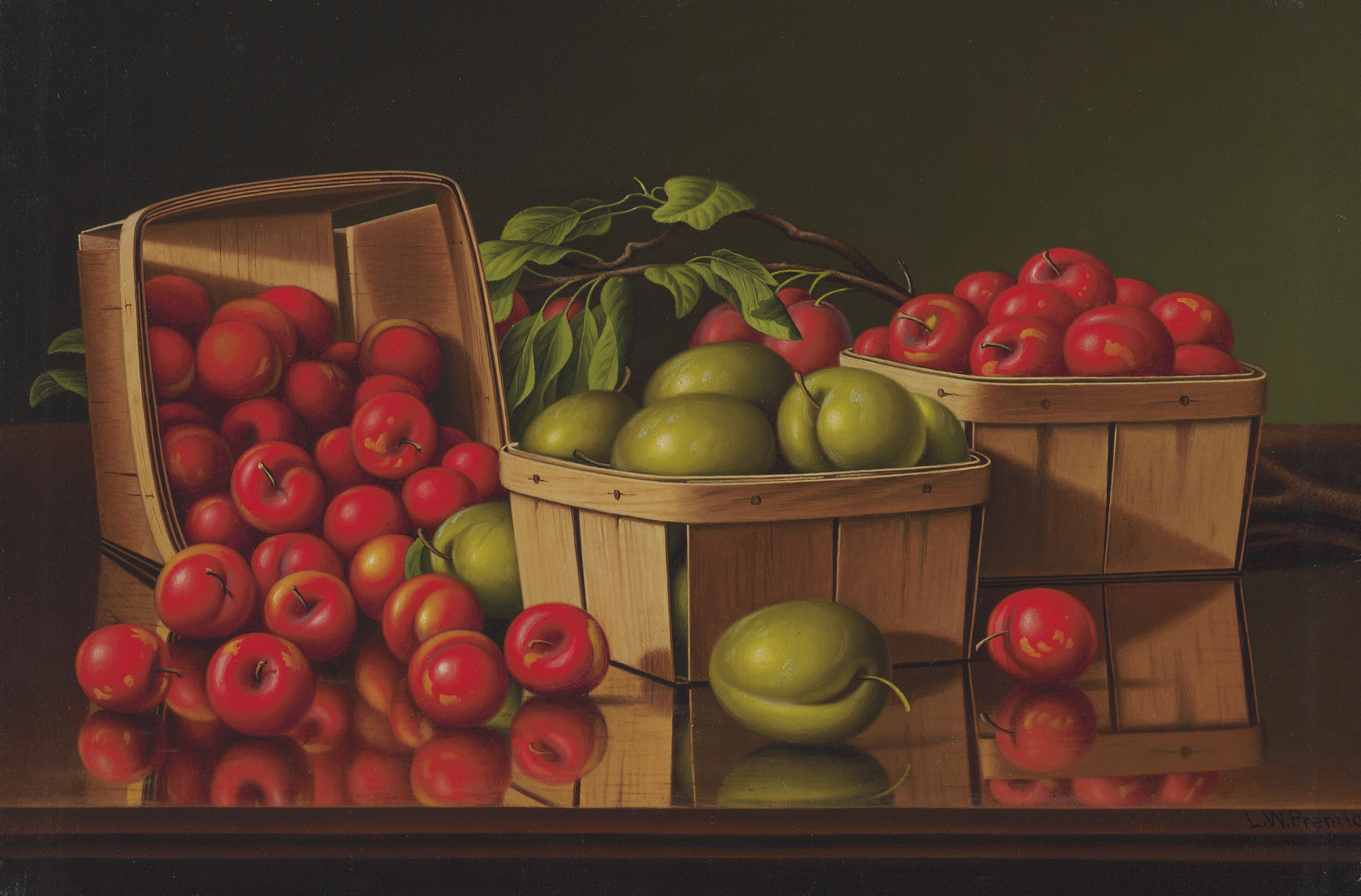 Still Life with Basket of Plums