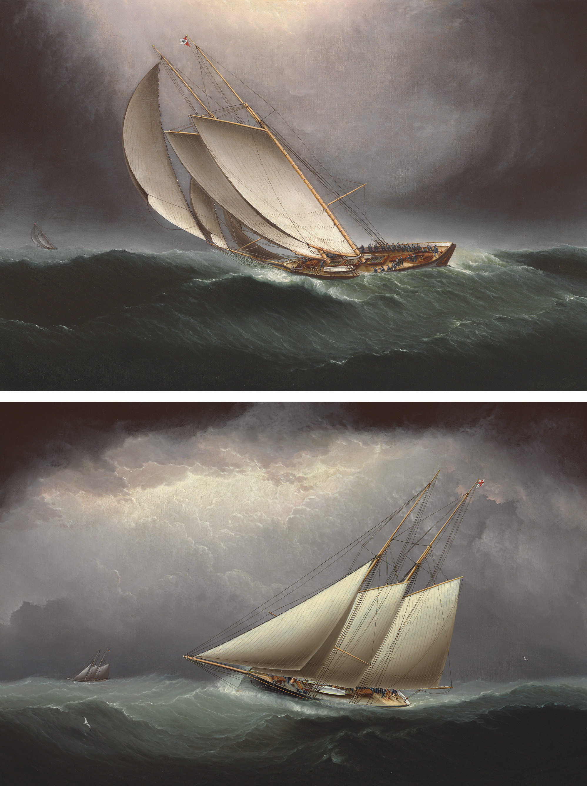 Two Schooners Racing in Heavy Seas; and The Dauntless: A Pair of Works