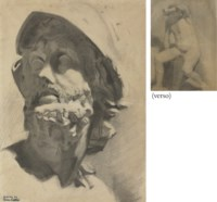 Head of a Warrior; and Seated Nude: A Double-Sided Work