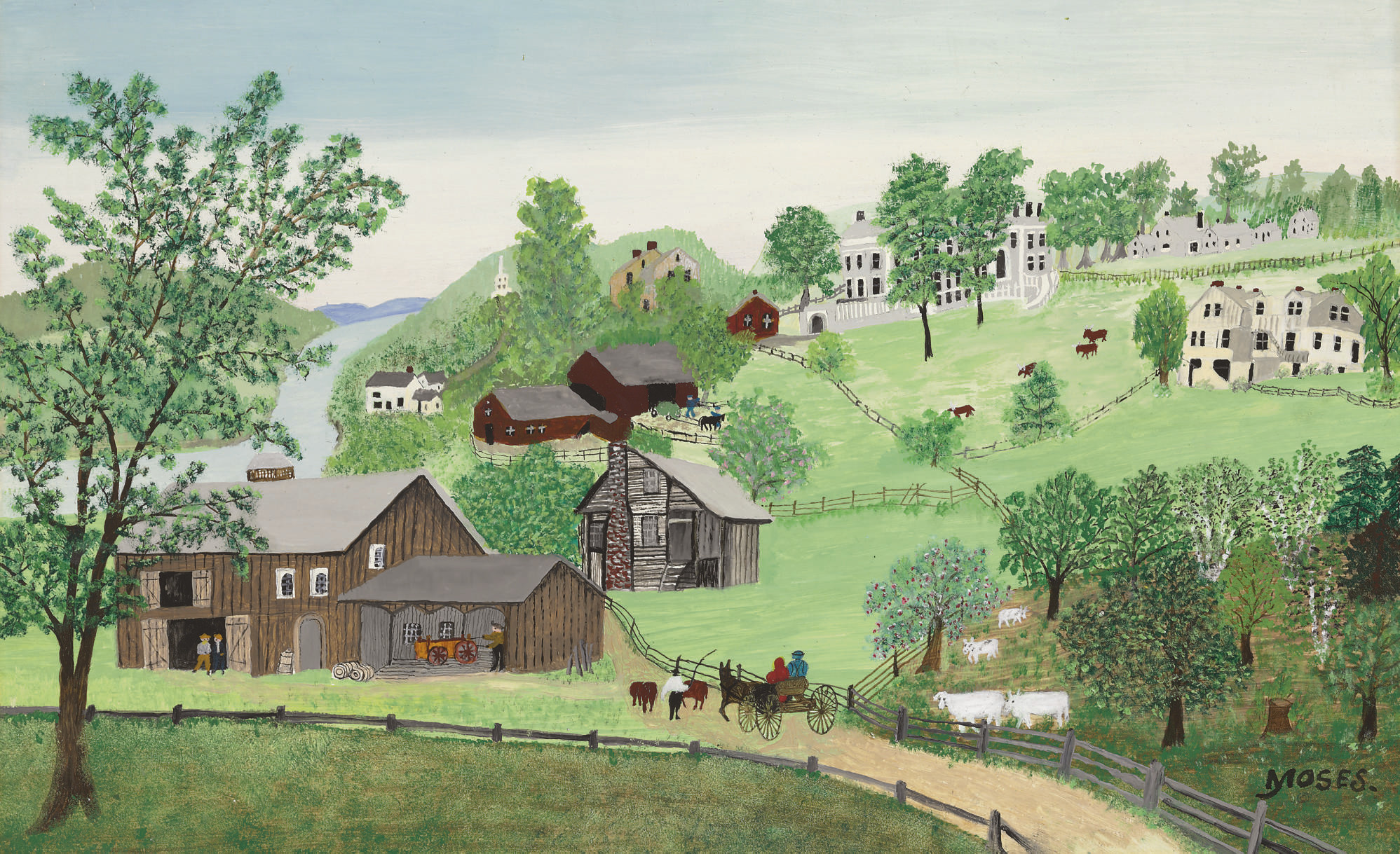 Anna Mary Robertson (Grandma) Moses (1860-1961) | The Plantation | 20th  Century, Paintings | Christie's