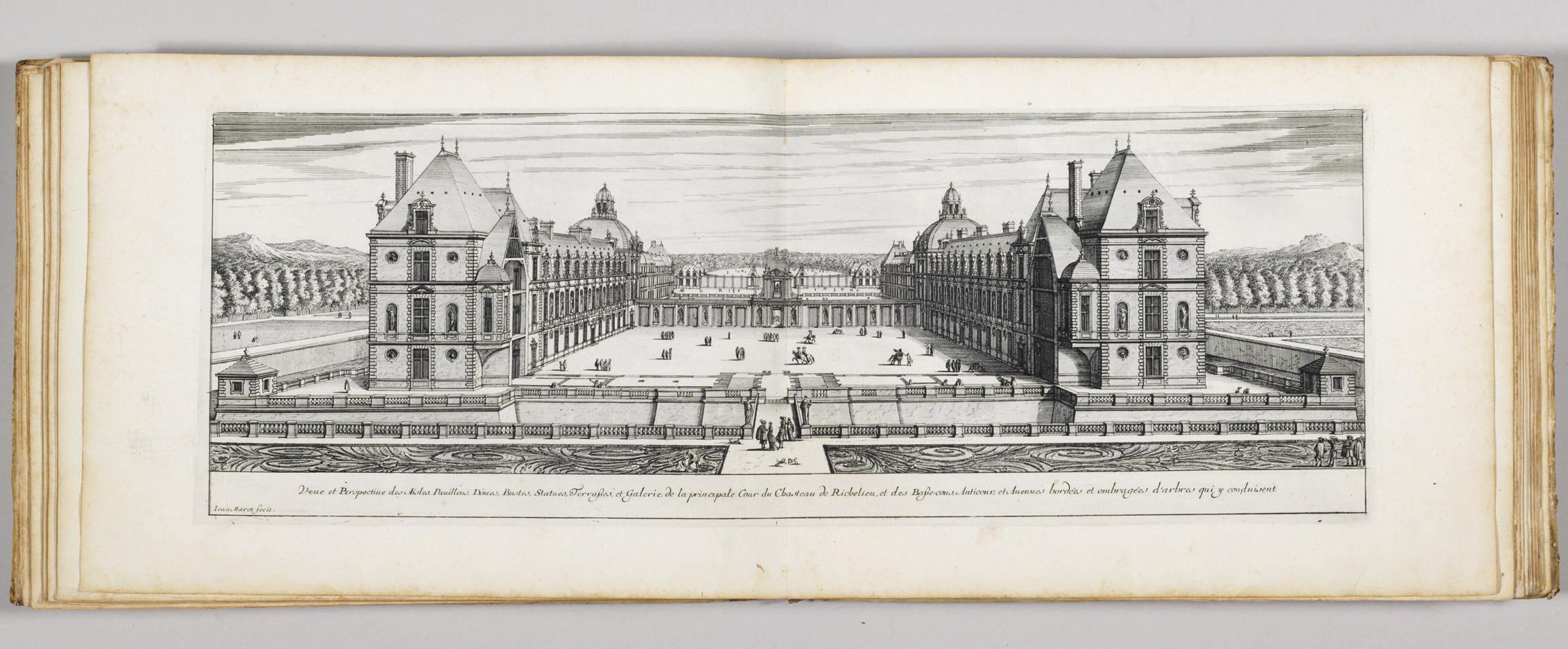 MAROT, Jean (ca 1619?-1679). Le magnifique Chasteau de Richelieu, en general et en particulier, ou les plans, les elevations, et profils generaux et particuliers dudit chasteau. Paris, n.d. [ca 1660].