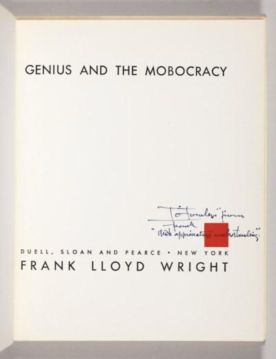 [WRIGHT, Frank Lloyd]. HITCHCO