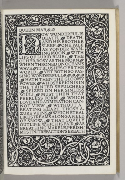 [KELMSCOTT PRESS]. SHELLEY, Pe
